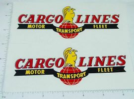 Wyandotte Cargo Lines Semi Trailer Sticker Set