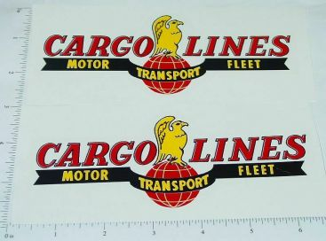 Wyandotte Cargo Lines Semi Trailer Sticker Set Main Image