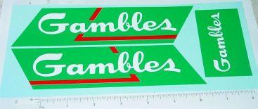 Wyandotte Gambles Stores Semi Truck Sticker Set Main Image