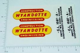Wyandotte Construction Engineer Truck Stickers