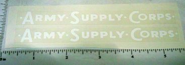 Wyandotte Army Supply Corps Truck Sticker Set Main Image