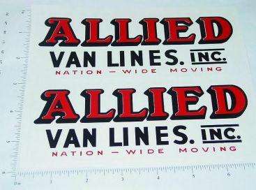 Wyandotte Allied Van Lines Truck Sticker Set Main Image