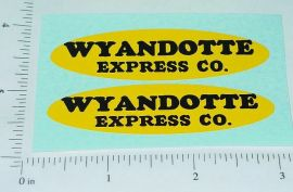Wyandotte Express Truck Oval Sticker Set