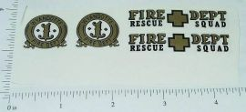 Wyandotte Plastic Fire Chief Car Sticker Set