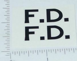 Wyandotte Fire Department Cord Stickers