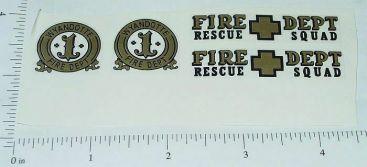 Wyandotte Plastic Fire Chief Car Sticker Set Main Image