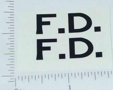 Wyandotte Fire Department Cord Stickers Main Image