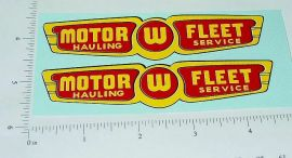 Wyandotte Motor Fleet Semi Trailer Sticker Set