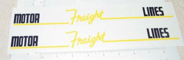 Pair of Wyandotte Motor Freight Lines Semi Sticker Set Main Image