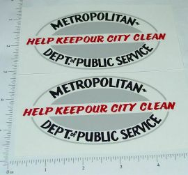 Wyandotte Sanitation Truck Sticker Set