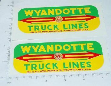 Wyandotte Truck Lines Side Panel Sticker Set Main Image