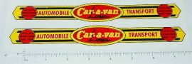 Wyandotte Car-A-Van Auto Transport Stickers