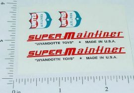Wyandotte Super Mainliner Airplane Sticker Set
