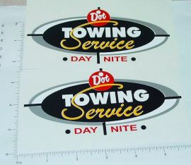 Wyandotte Ride On Wrecker Tow Truck Sticker Set