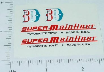 Wyandotte Super Mainliner Airplane Sticker Set Main Image