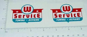 Wyandotte Service Wrecker Tow Truck Stickers Main Image