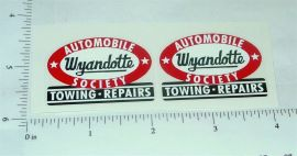 Wyandotte Auto Society Towing Truck Stickers