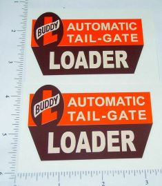 Buddy L Tailgate Loader Truck Sticker Set