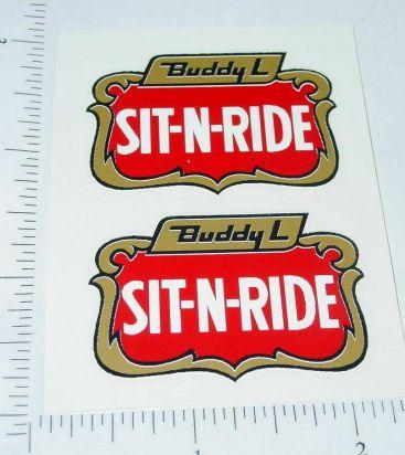 Pair Buddy L Sit N Ride Fire Truck Door Stickers Main Image