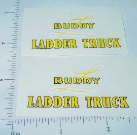Buddy L Wood Fire Ladder Truck Sticker