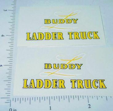 Buddy L Wood Fire Ladder Truck Sticker Main Image
