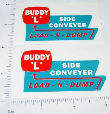 Buddy L Side Conveyer Load & Dump Stickers Main Image