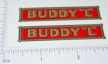 "Pair Buddy L Pre-War 2.5"" Logo Stickers Main Image"