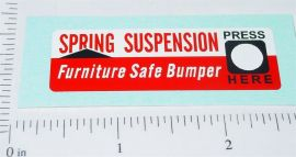 Buddy L Spring Suspension Hood Sticker