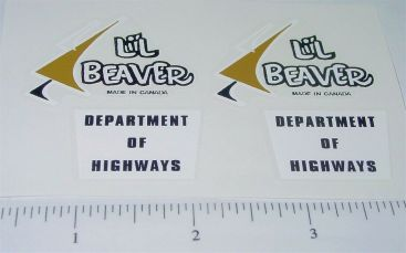 Lil Beaver Dept of Highways Truck Stickers Main Image