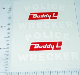 Buddy L Police Wrecker Tow Truck Stickers