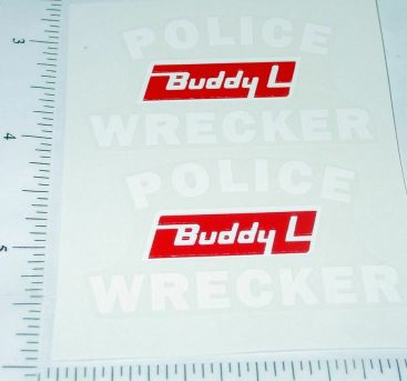 Buddy L Police Wrecker Tow Truck Stickers Main Image