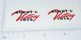Buddy L Victory Toys Post WWII Stickers