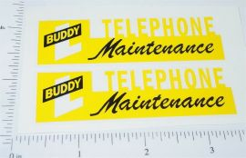 Buddy L Telephone Maintenance Sticker Set