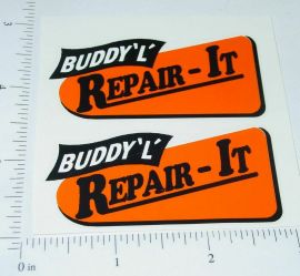 Buddy L Repai-It Wrecker (org/blk) Sticker Set