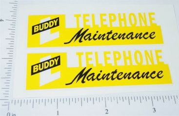Buddy L Telephone Maintenance Sticker Set Main Image