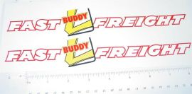 Buddy L Fast Freight Semi Trailer Stickers