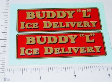 Buddy L Ice Delivery Truck Sticker Set Main Image