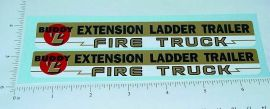 Buddy L Extension Ladder Fire Trailer Stickers