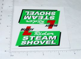 Buddy L Rider Steam Shovel Truck Stickers