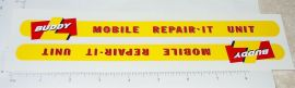Buddy L Mobile Repair-It Service Truck Stickers