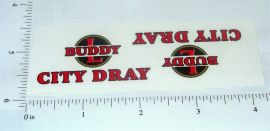 Buddy L City Dray Truck Stickers