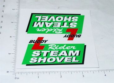 Buddy L Rider Steam Shovel Truck Stickers Main Image