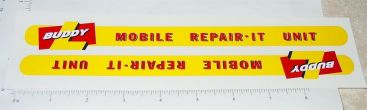 Buddy L Mobile Repair-It Service Truck Stickers Main Image