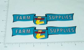 Buddy L Farm Supplies Truck Sticker Set