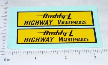 Buddy L Highway Maintenance Sand Loader Stickers Main Image