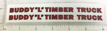 Buddy L Wooden Timber Truck Sticker Set Main Image