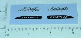 Evinrude Al Craft Toy Boat Motor Sticker Set