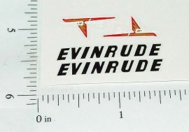 Evinrude Big Twin Toy Boat Motor Stickers