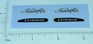 Evinrude Al Craft Toy Boat Motor Sticker Set Main Image
