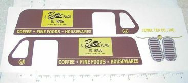 Banner Jewel Tea Van Replacement Sticker Set Main Image